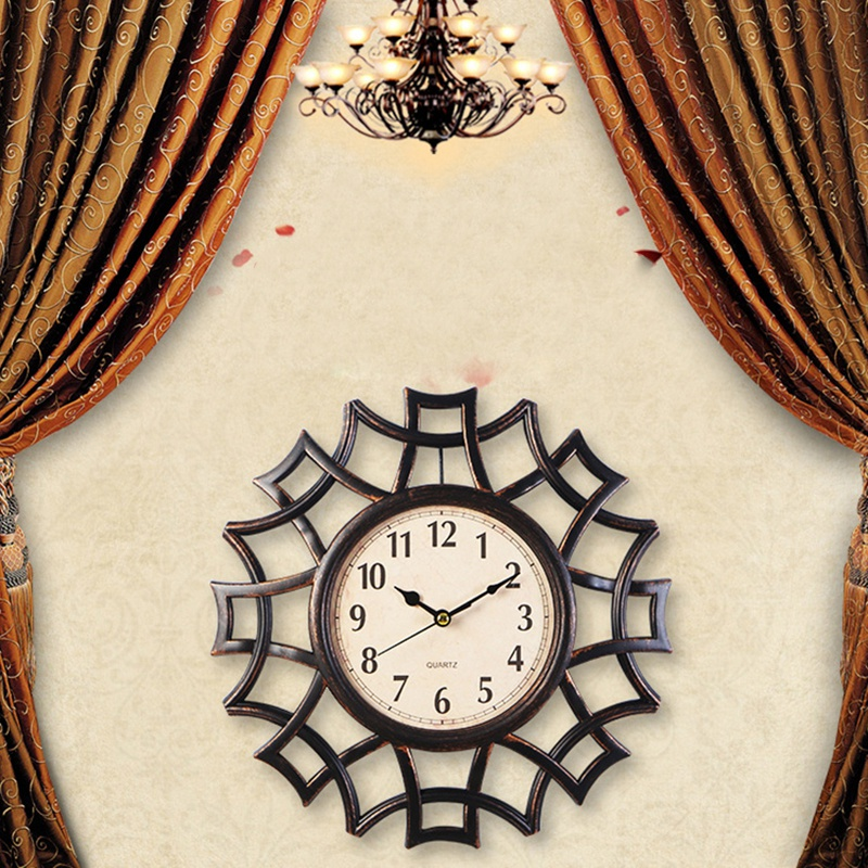 Abstrait-Horloge-Murale-Nordic-Vintage-Chiffre-GeOmeTrique-Horloge-Murale-Q-T7E1 miniature 27