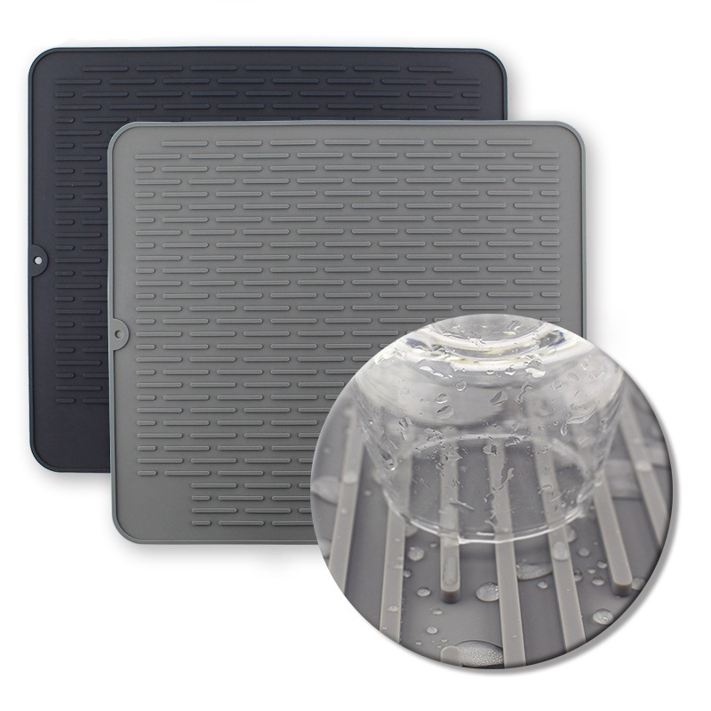 1X-Large-Silicone-Placemat-Dish-Drying-Mat-Kitchen-Draining-Table-Drain-Mat-Y9V9 thumbnail 4