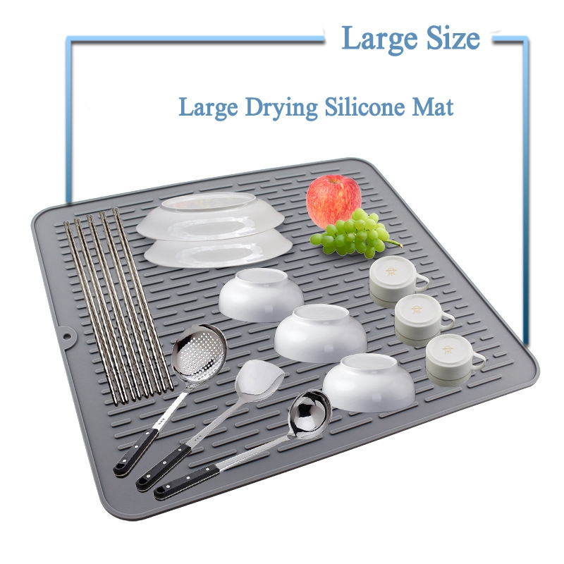 1X-Large-Silicone-Placemat-Dish-Drying-Mat-Kitchen-Draining-Table-Drain-Mat-Y9V9 thumbnail 16