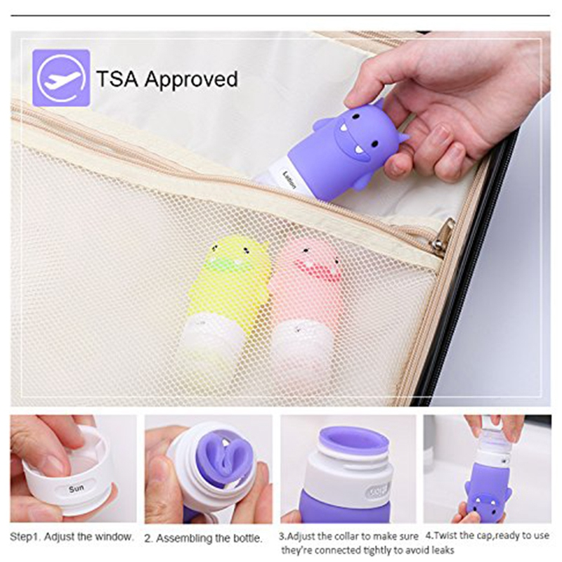 Portable-Travel-Bottles-Silicone-Containers-Set-3-Layer-Leakproof-and-Sque-H8M8 thumbnail 7