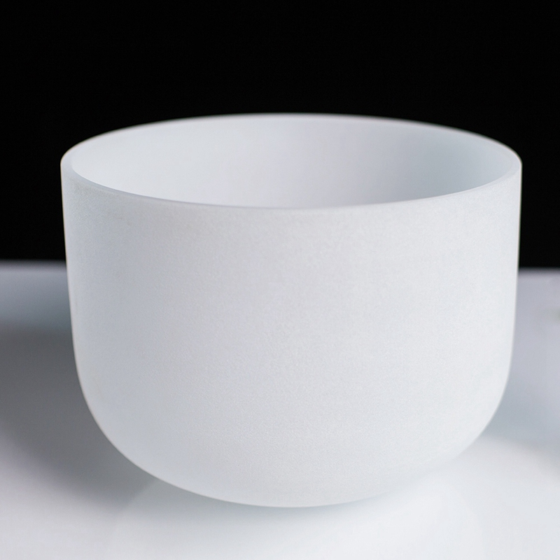 Bol-Chantant-en-Cristal-de-Quartz-Givre-avec-une-Note-Parfaite-de-8-Pouces-I8D6 miniature 5