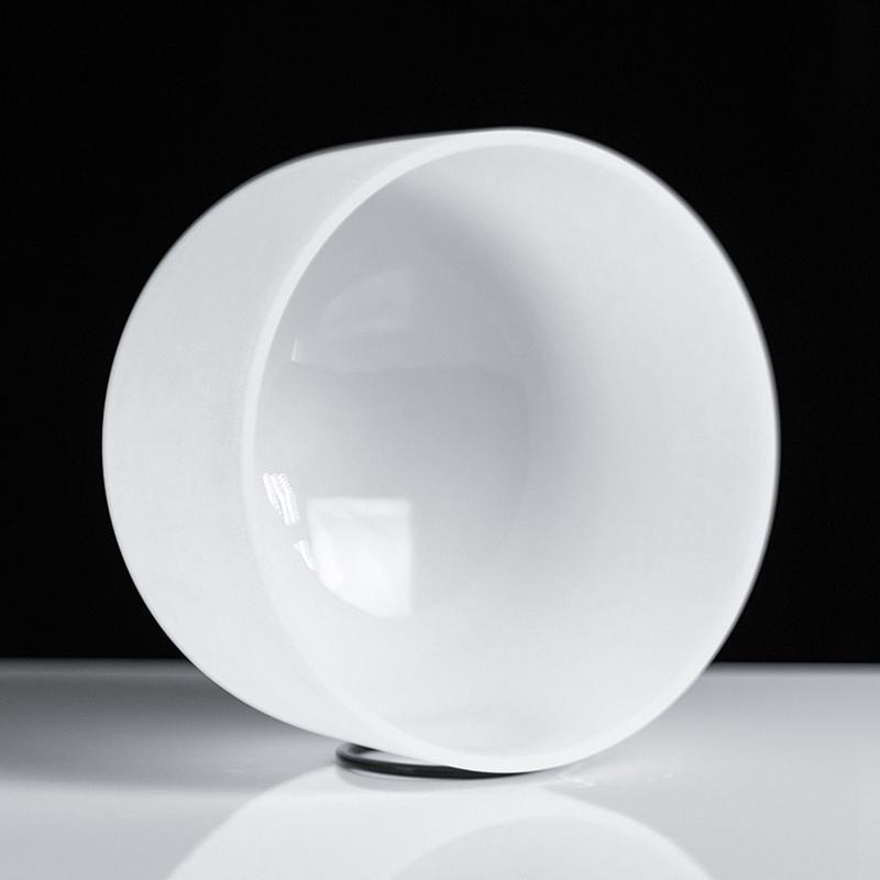 Bol-Chantant-en-Cristal-de-Quartz-Givre-avec-une-Note-Parfaite-de-8-Pouces-I8D6 miniature 6