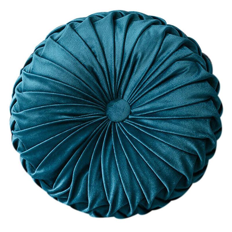 Round-Floor-Luxury-Velvet-Pumpkin-Pleated-Cushion-Pouf-Cover-Throw-Pillow-H-Q7T7 thumbnail 12