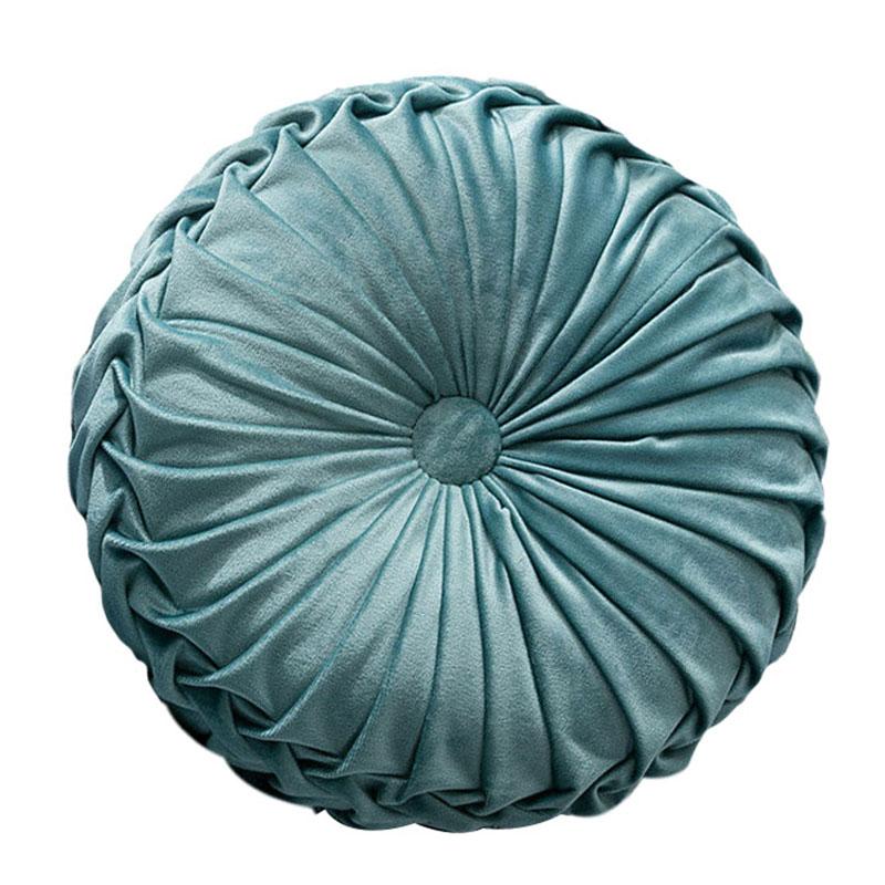 Round-Floor-Luxury-Velvet-Pumpkin-Pleated-Cushion-Pouf-Cover-Throw-Pillow-H-Q7T7 thumbnail 21