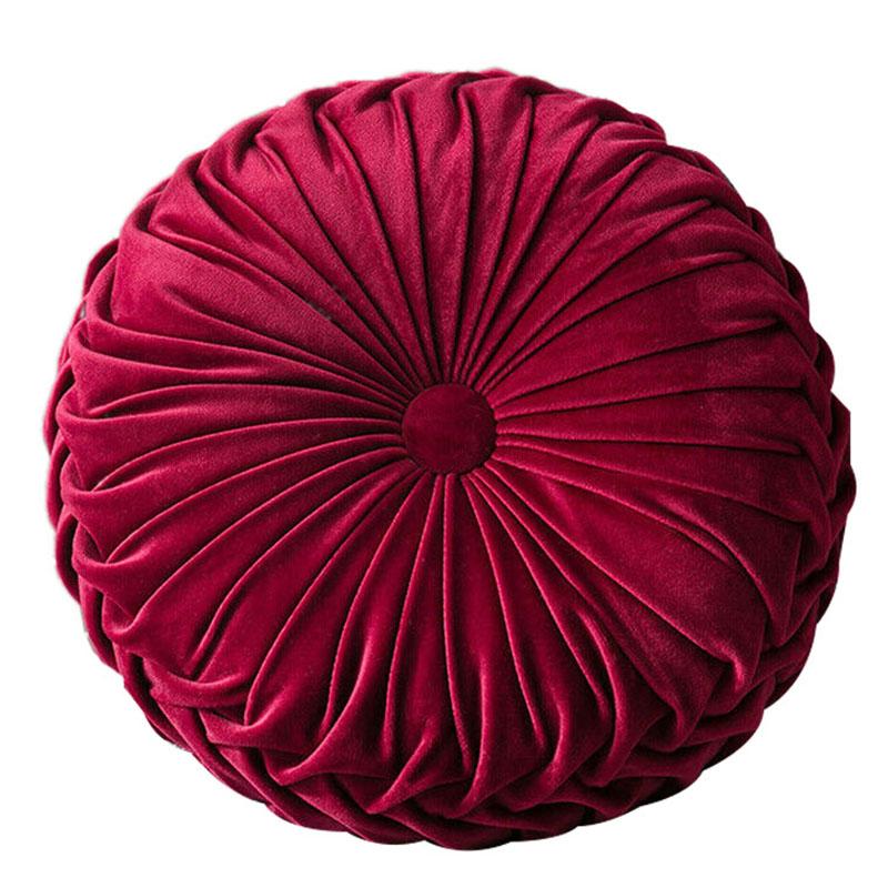 Round-Floor-Luxury-Velvet-Pumpkin-Pleated-Cushion-Pouf-Cover-Throw-Pillow-H-Q7T7 thumbnail 39