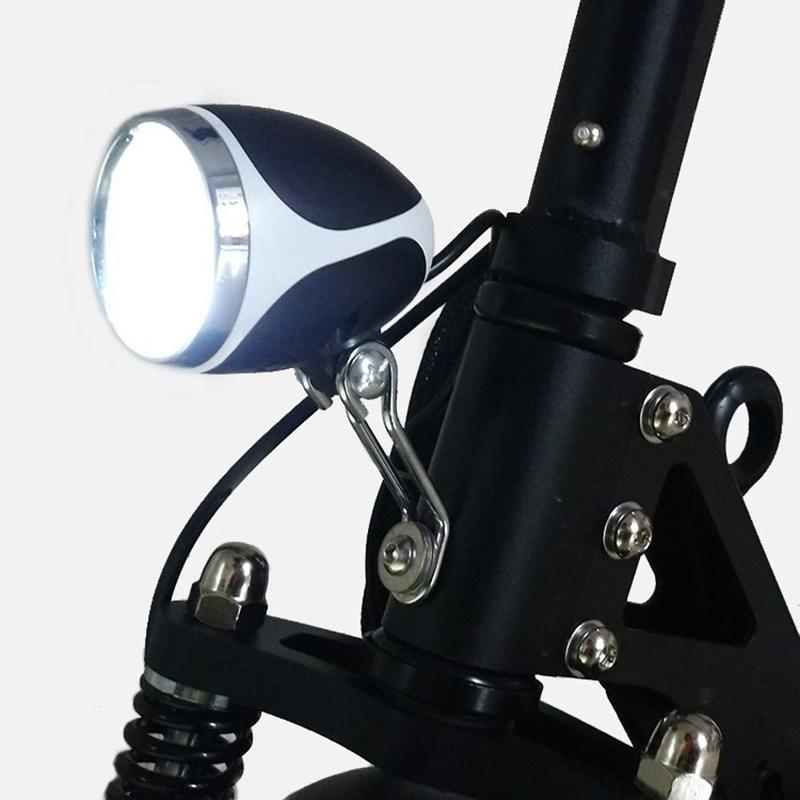 36V 48V eBike Light Scooter Electric 4 LED Front Headlight Spotlight with Horn
