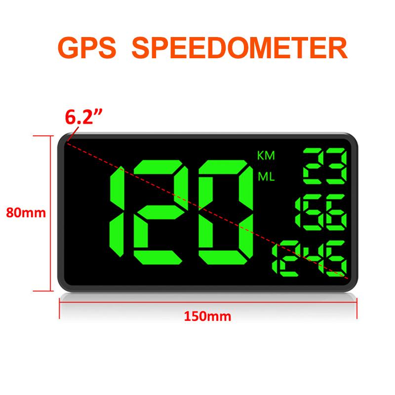 C109-Car-6-2-Inch-Head-Up-Display-Driving-Speed-Digital-GPS-Vehicle-Car-Spee-X5I thumbnail 2