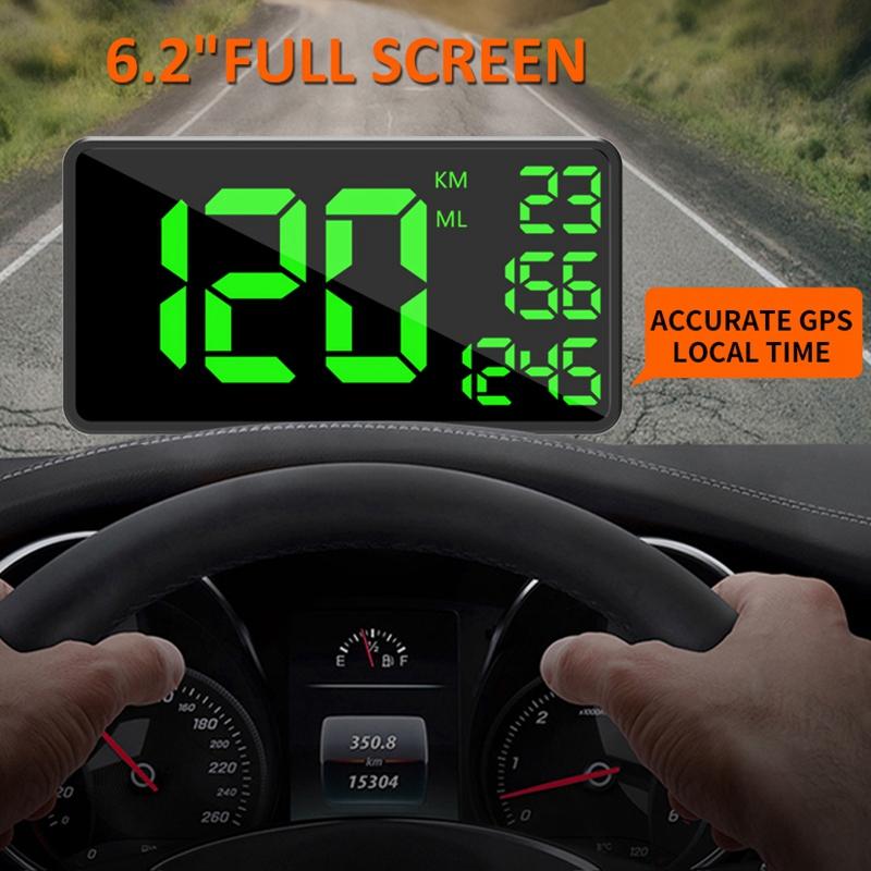 C109-Car-6-2-Inch-Head-Up-Display-Driving-Speed-Digital-GPS-Vehicle-Car-Spee-X5I thumbnail 7