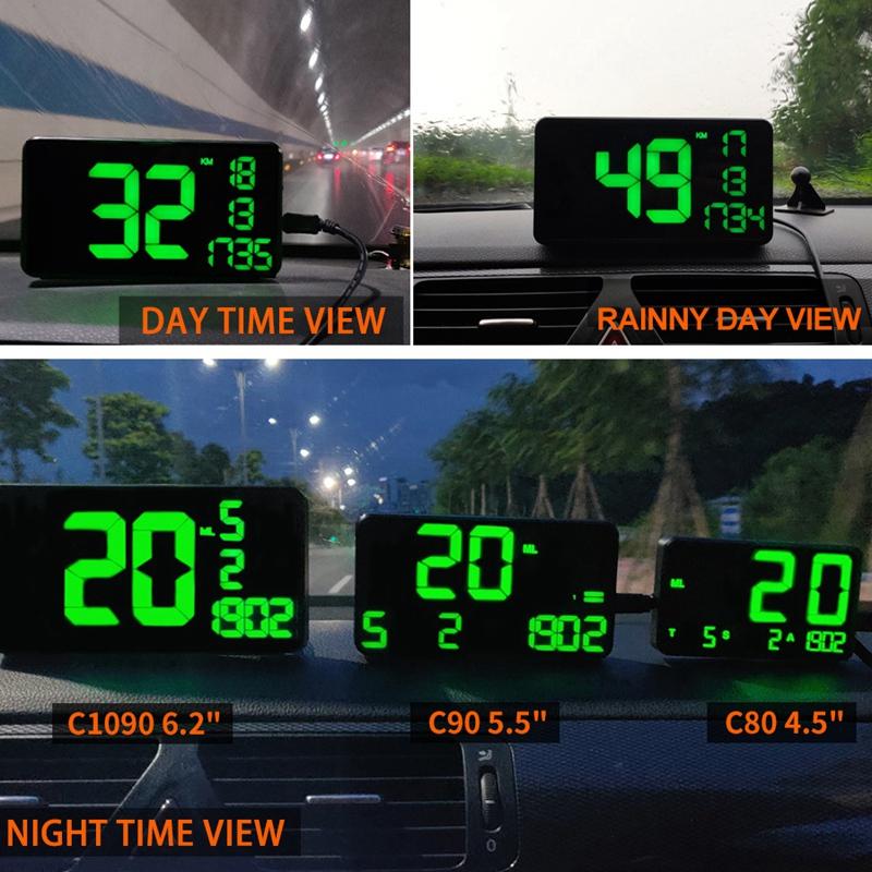 C109-Car-6-2-Inch-Head-Up-Display-Driving-Speed-Digital-GPS-Vehicle-Car-Spee-X5I thumbnail 8