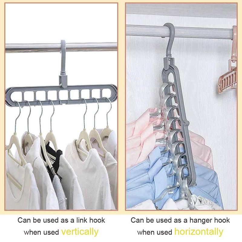 4X-Magic-Hangers-Organizer-Rotate-Anti-Skid-Hanger-Space-Saving-Hangers-Fol9Y6 thumbnail 5