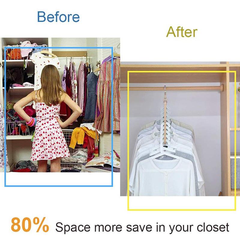 4X-Magic-Hangers-Organizer-Rotate-Anti-Skid-Hanger-Space-Saving-Hangers-Fol9Y6 thumbnail 8