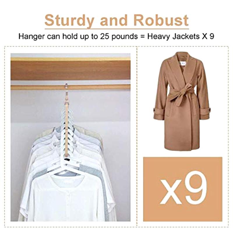 4X-Magic-Hangers-Organizer-Rotate-Anti-Skid-Hanger-Space-Saving-Hangers-Fol9Y6 thumbnail 9