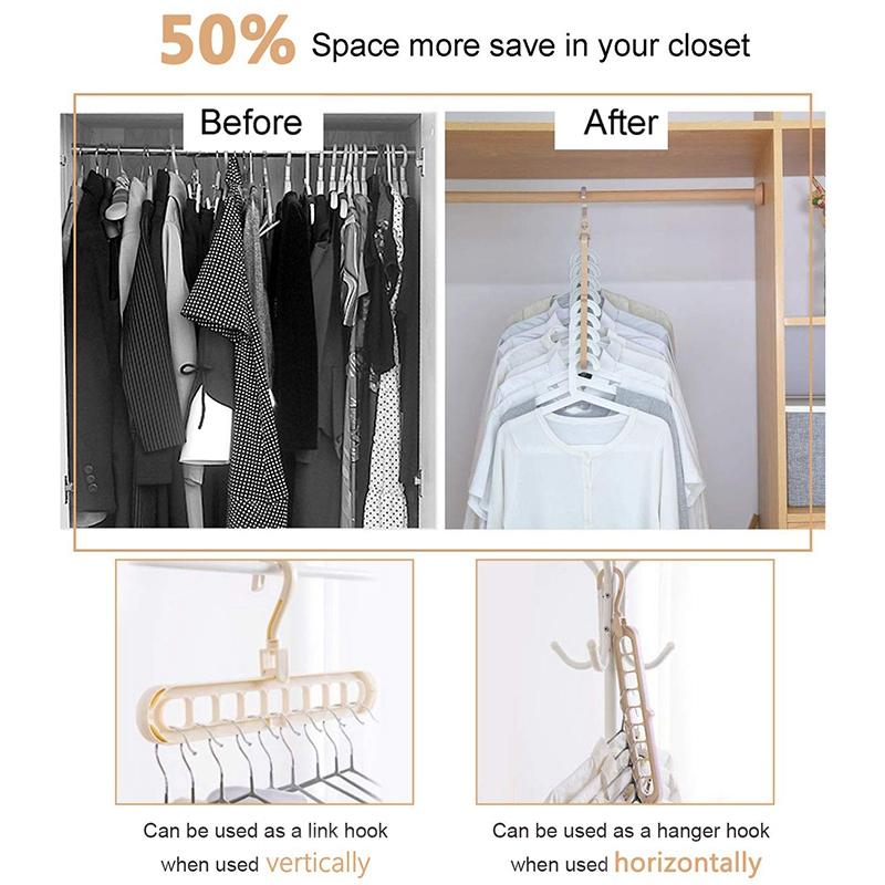 4X-Magic-Hangers-Organizer-Rotate-Anti-Skid-Hanger-Space-Saving-Hangers-Fol9Y6 thumbnail 19
