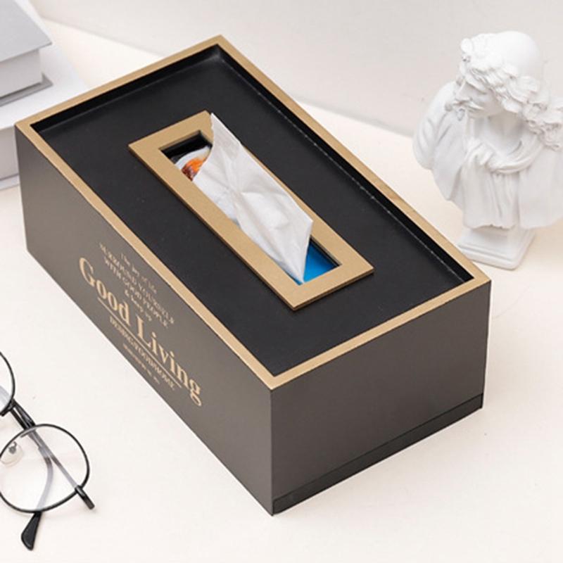 Caja-de-PanUelos-de-Madera-Contenedor-de-PanUelos-Servilleta-Dispensador-de-G3S6 miniatura 5