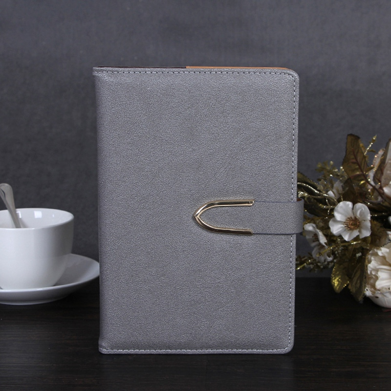 Business-Notepad-Stationery-Holder-A5-Cuero-Libro-de-Mano-Libro-Diario-R5A7 miniatura 4