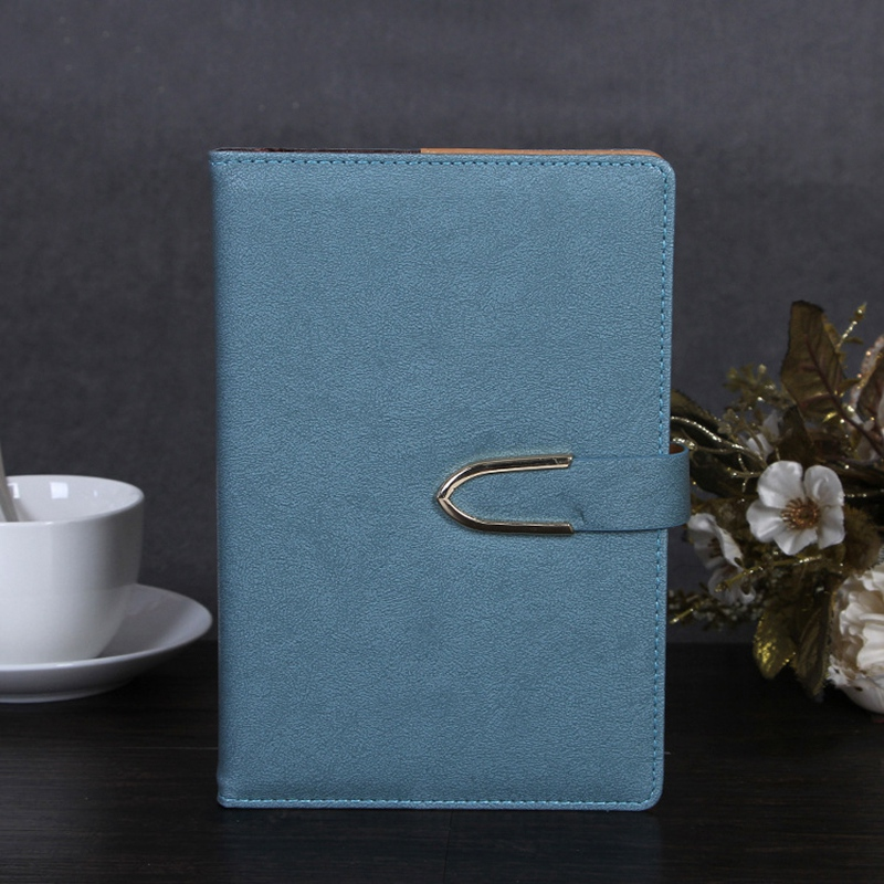 Business-Notepad-Stationery-Holder-A5-Cuero-Libro-de-Mano-Libro-Diario-R5A7 miniatura 5