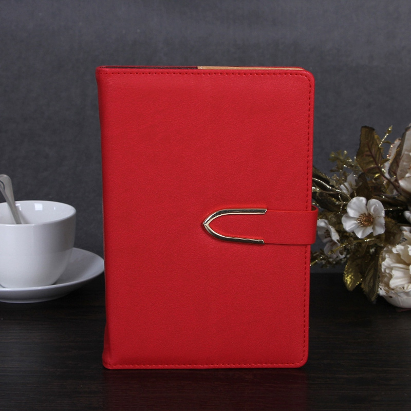 Business-Notepad-Stationery-Holder-A5-Cuero-Libro-de-Mano-Libro-Diario-R5A7 miniatura 6