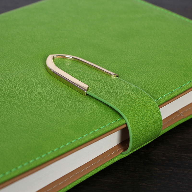 Business-Notepad-Stationery-Holder-A5-Cuero-Libro-de-Mano-Libro-Diario-R5A7 miniatura 9