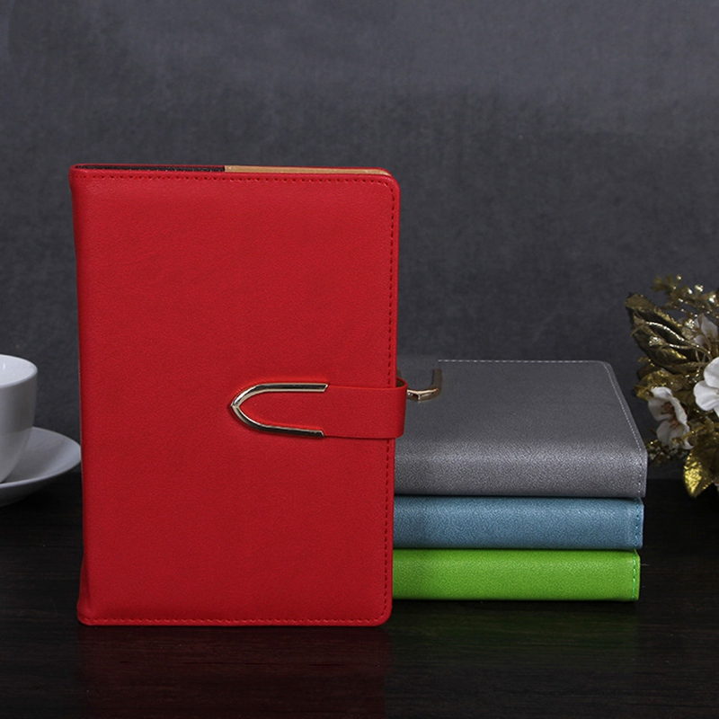 Business-Notepad-Stationery-Holder-A5-Cuero-Libro-de-Mano-Libro-Diario-R5A7 miniatura 10