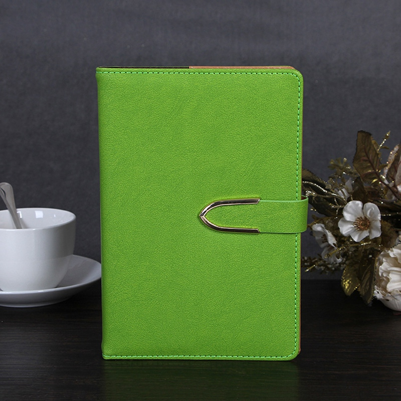 Business-Notepad-Stationery-Holder-A5-Cuero-Libro-de-Mano-Libro-Diario-R5A7 miniatura 12