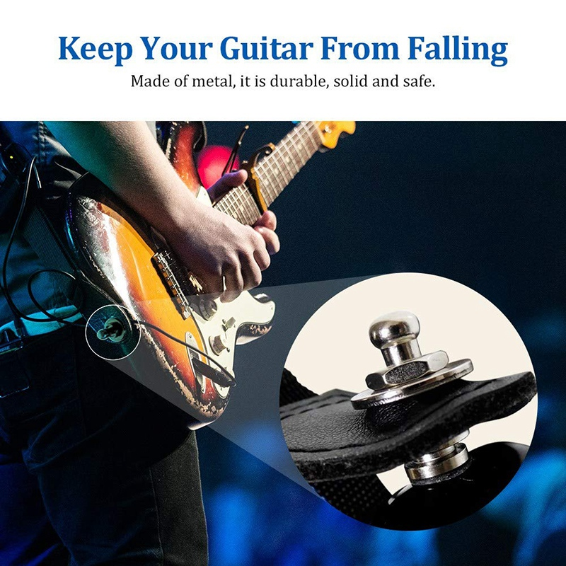 Metal-Guitar-Straps-Locks-and-Buttons-for-Quick-Release-Safety-Strap-Locks-Y6A6 thumbnail 4