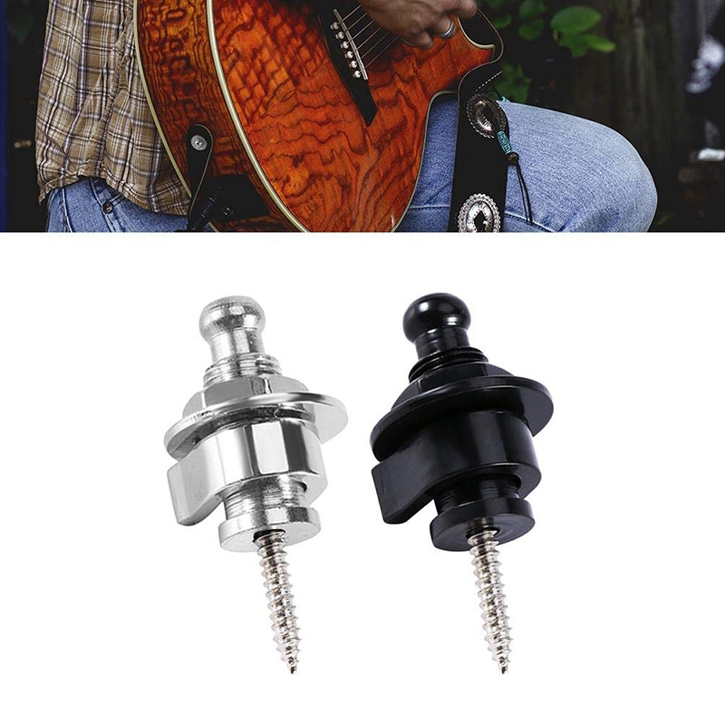 Metal-Guitar-Straps-Locks-and-Buttons-for-Quick-Release-Safety-Strap-Locks-Y6A6 thumbnail 13