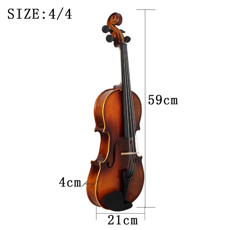 Full-Size-Violine-Retro-Akustische-Geige-Massivholz-Fichte-Ahorn-Furnier-mi-W7X4 Indexbild 7