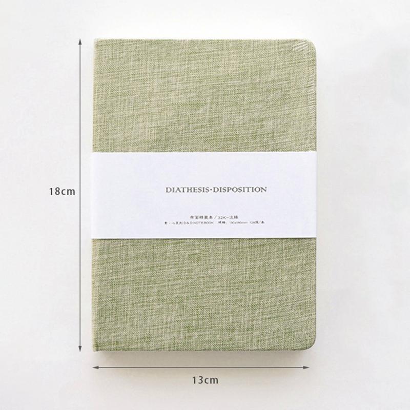 Planificador-Cuaderno-Lino-Pano-Diario-en-Blanco-Cuaderno-Cuaderno-de-Bocetos-Di miniatura 3