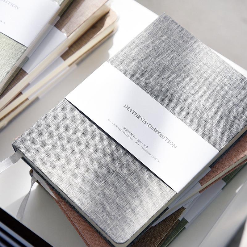 Planificador-Cuaderno-Lino-Pano-Diario-en-Blanco-Cuaderno-Cuaderno-de-Bocetos-Di miniatura 4