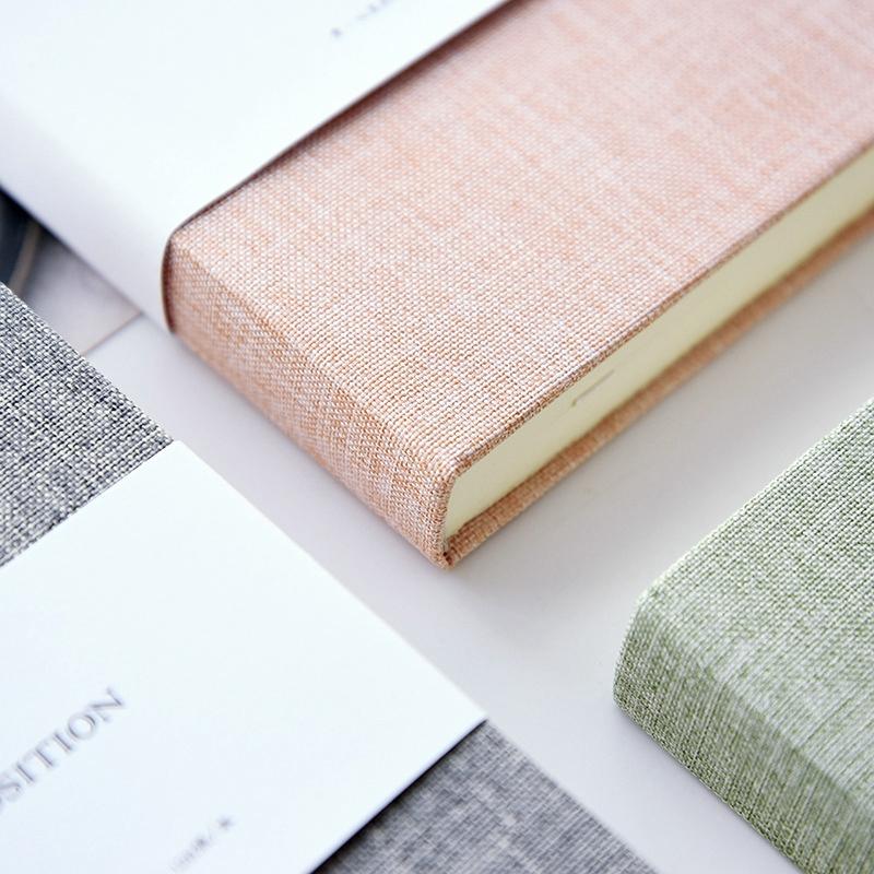 Planificador-Cuaderno-Lino-Pano-Diario-en-Blanco-Cuaderno-Cuaderno-de-Bocetos-Di miniatura 5