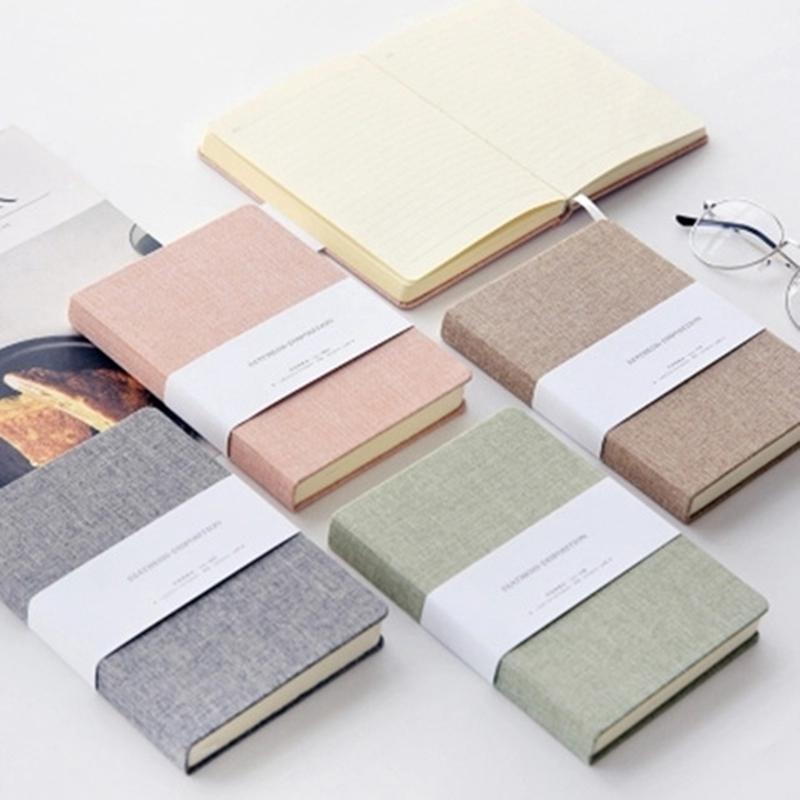 Planificador-Cuaderno-Lino-Pano-Diario-en-Blanco-Cuaderno-Cuaderno-de-Bocetos-Di miniatura 18