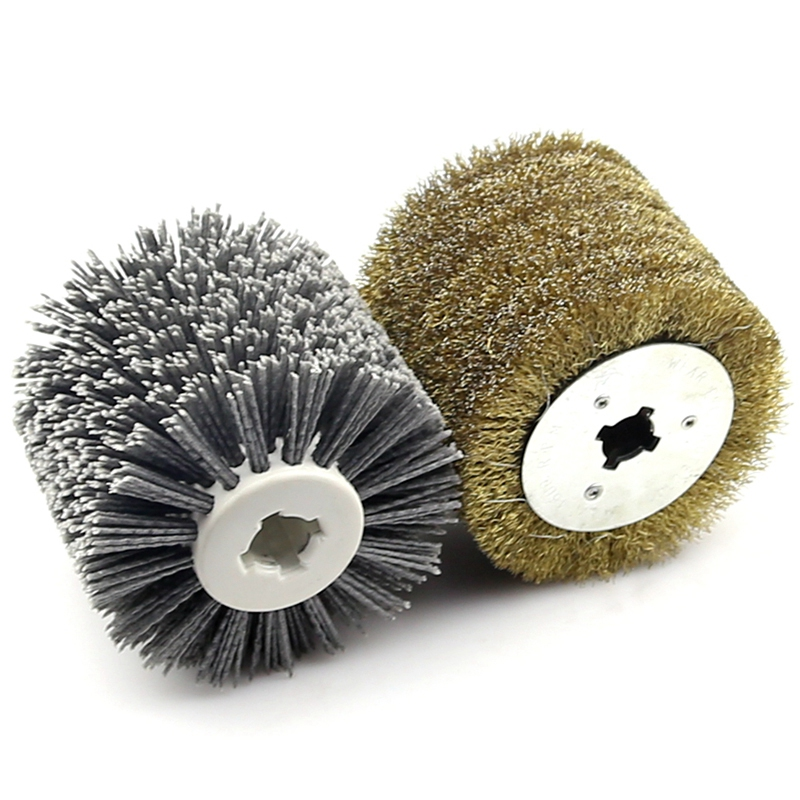 80-240 Grit Abrasive Brush Wheel Sanding Sander Roller Wire For Wood Grinding