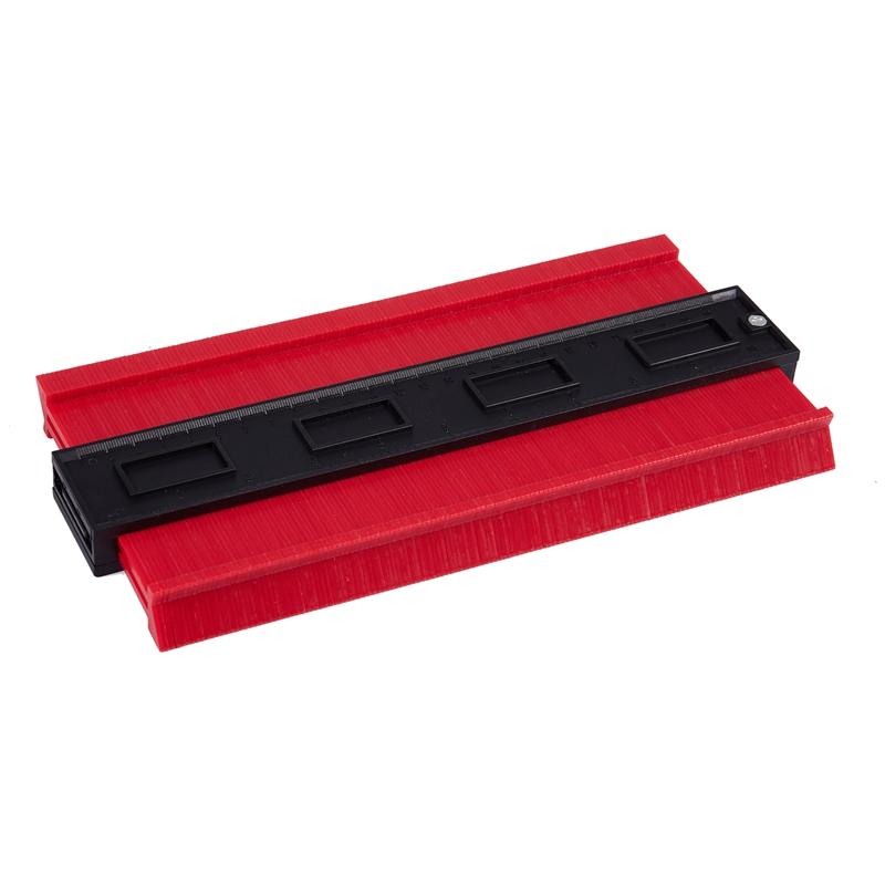 Calibro di contorno in plastica strumento di misurazione della forma del duplicatore di calibro di contorno da 5 pollici Ampliare il calibro di profilo Misura del duplicatore di contorno del righello