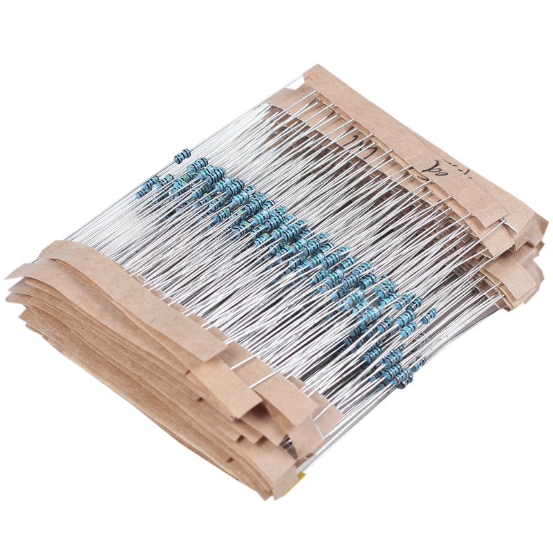 560-Piece-Metal-Film-Resistors-Set-1-1-4W-1-10M-Ohm-W9J8 thumbnail 2