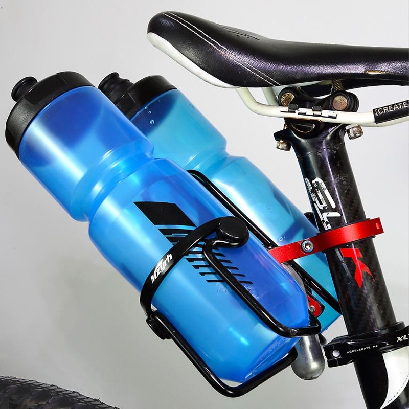 Bicycle Aluminum Water Bottle Cage Converter Holder Mountain Bike Saddle Double