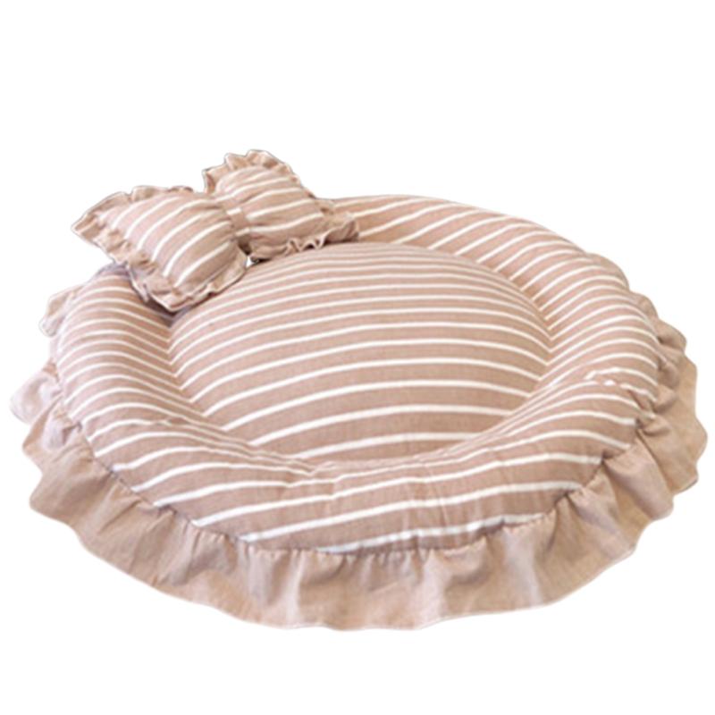 1X-Round-Dog-Mat-Cat-Sofa-Pet-Bed-Sleep-Teddy-Cat-Puppy-Soft-House-Fall-WinT8T5 thumbnail 9