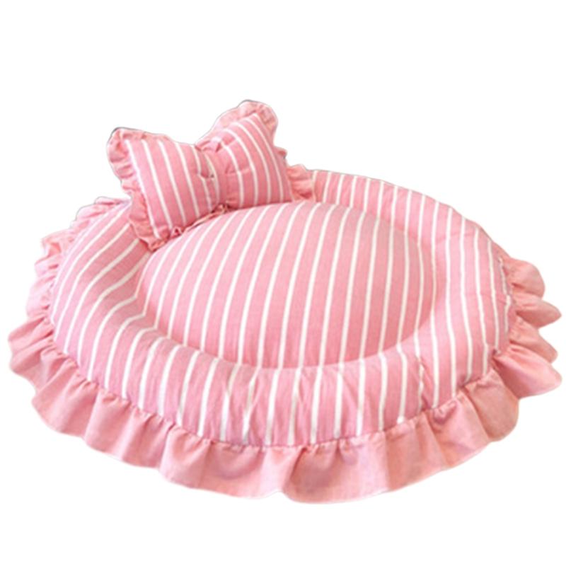 1X-Round-Dog-Mat-Cat-Sofa-Pet-Bed-Sleep-Teddy-Cat-Puppy-Soft-House-Fall-WinT8T5 thumbnail 24