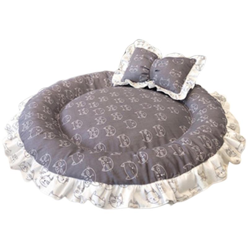 1X-Round-Dog-Mat-Cat-Sofa-Pet-Bed-Sleep-Teddy-Cat-Puppy-Soft-House-Fall-WinT8T5 thumbnail 31