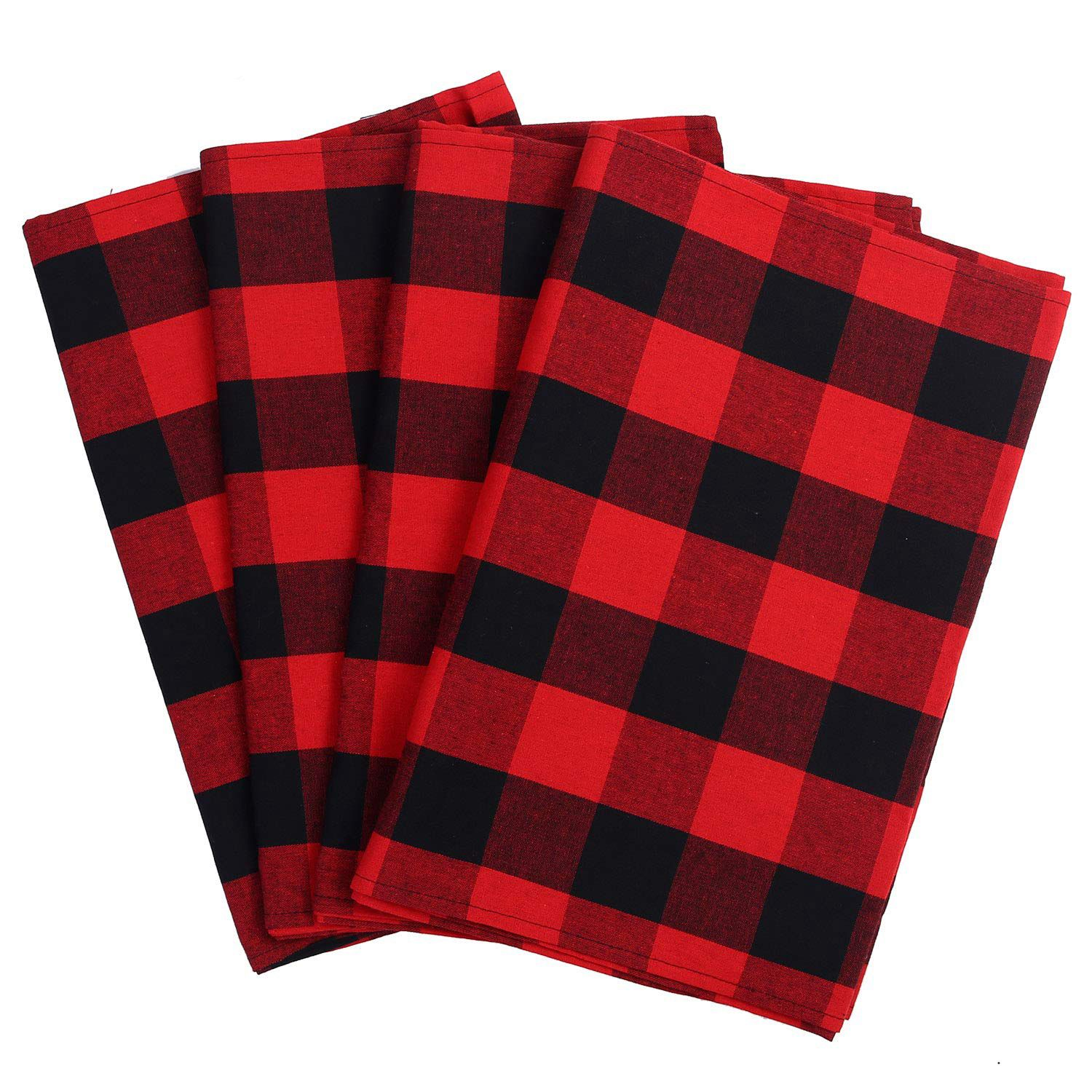 4-Pack-Checkered-Table-Runner-Cotton-Plaid-Table-Runner-Modern-Plaid-Design-U2L6 thumbnail 4