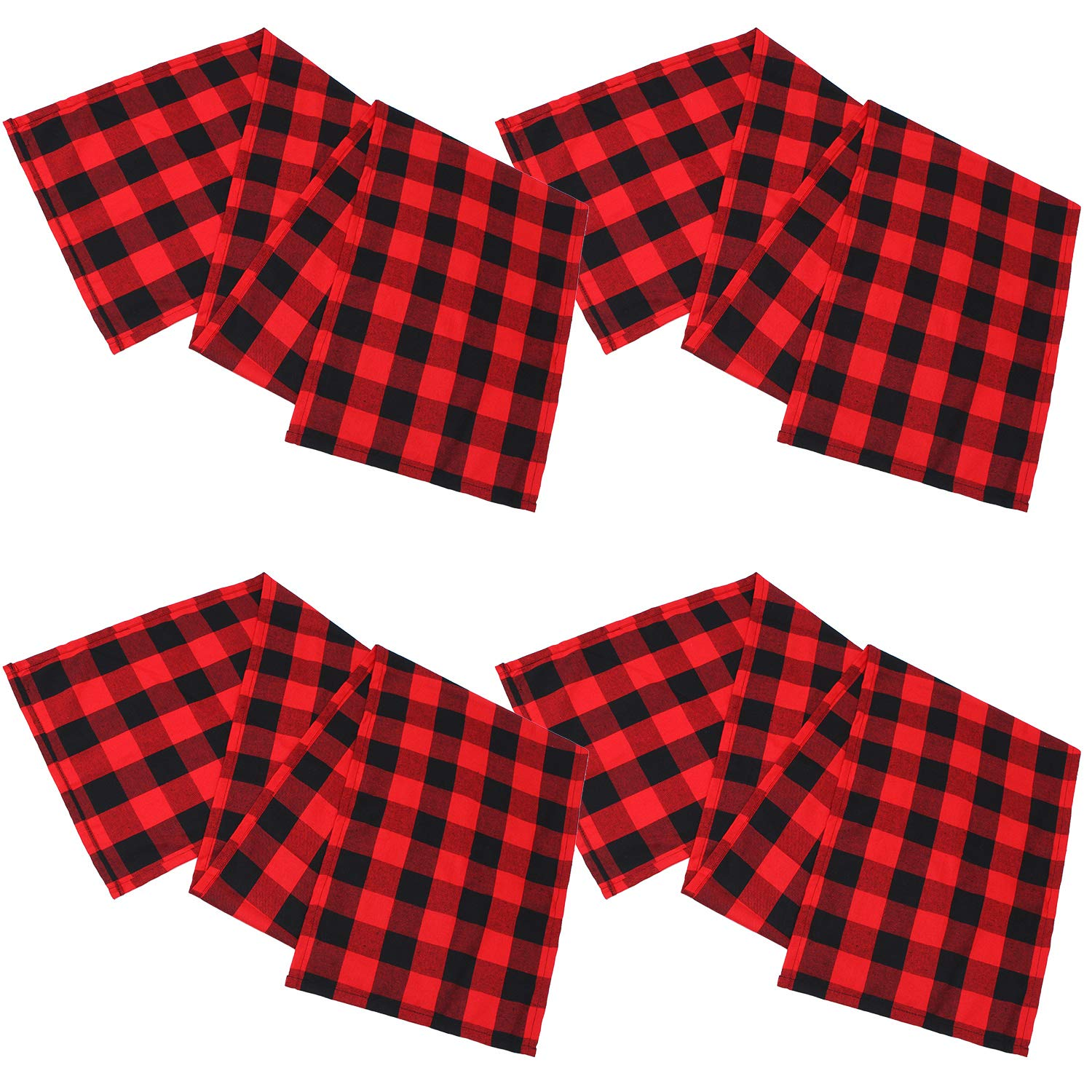 4-Pack-Checkered-Table-Runner-Cotton-Plaid-Table-Runner-Modern-Plaid-Design-U2L6 thumbnail 5