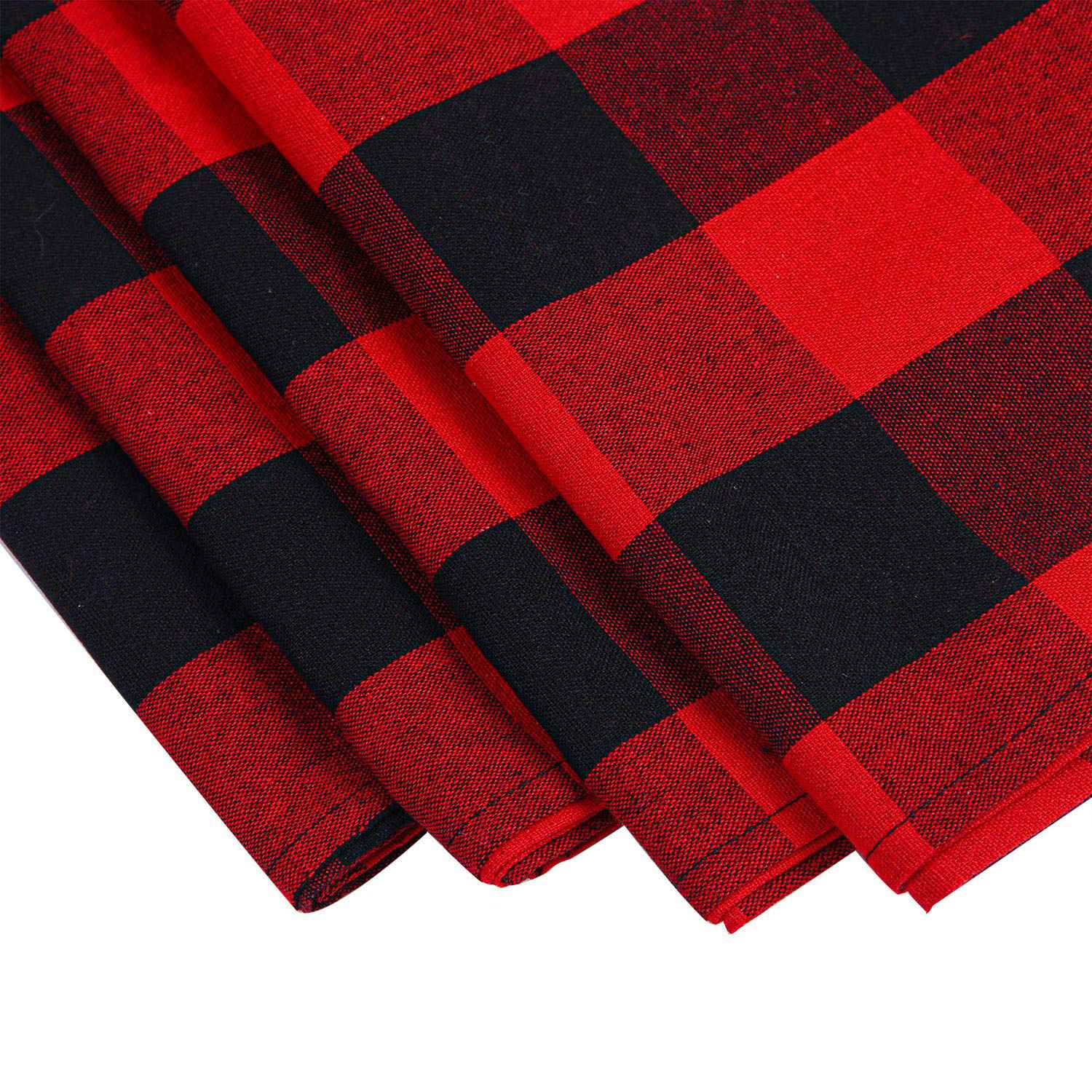 4-Pack-Checkered-Table-Runner-Cotton-Plaid-Table-Runner-Modern-Plaid-Design-U2L6 thumbnail 6