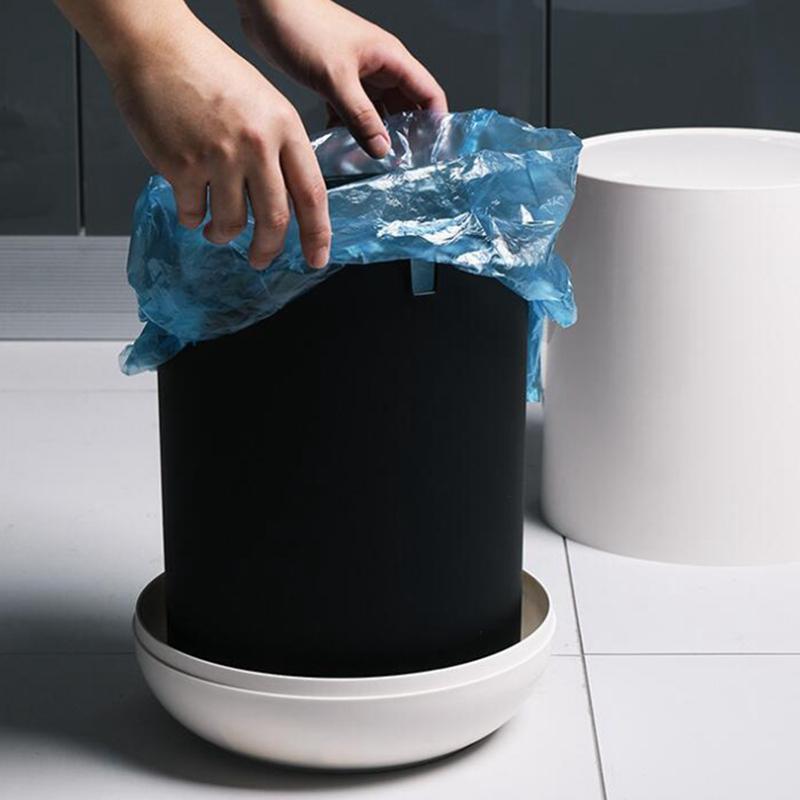 PP-MueLl-Eimer-Press-MueLl-Eimer-Abfall-BehaeLter-mit-Innen-und-AussEn-Doppe-M1S6 Indexbild 5