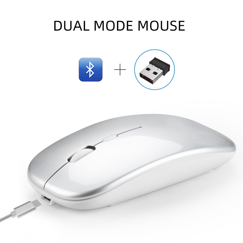 Wireless-Mouse-Computer-Bluetooth-Mouse-Silent-PC-Mouse-Rechargeable-Ergono-F6H2 thumbnail 3