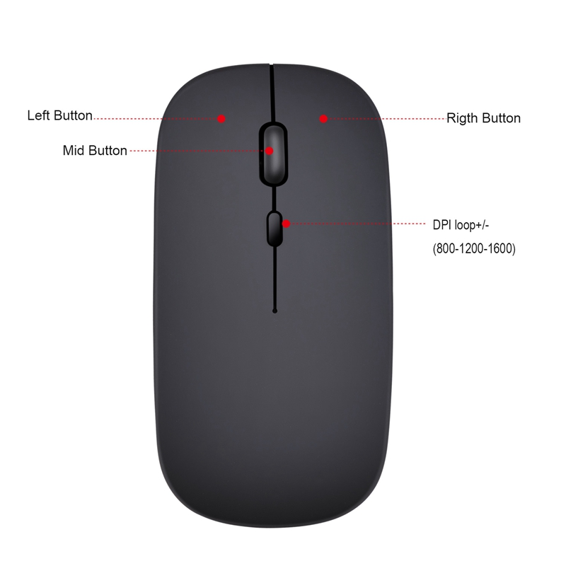Wireless-Mouse-Computer-Bluetooth-Mouse-Silent-PC-Mouse-Rechargeable-Ergono-F6H2 thumbnail 8