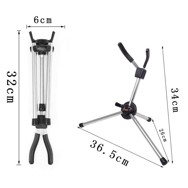 SLADE-Saxophon-StaeNder-Mini-Faltbarer-Tragbarer-Saxophon-StaeNder-Aus-Metal-V9D8 Indexbild 5