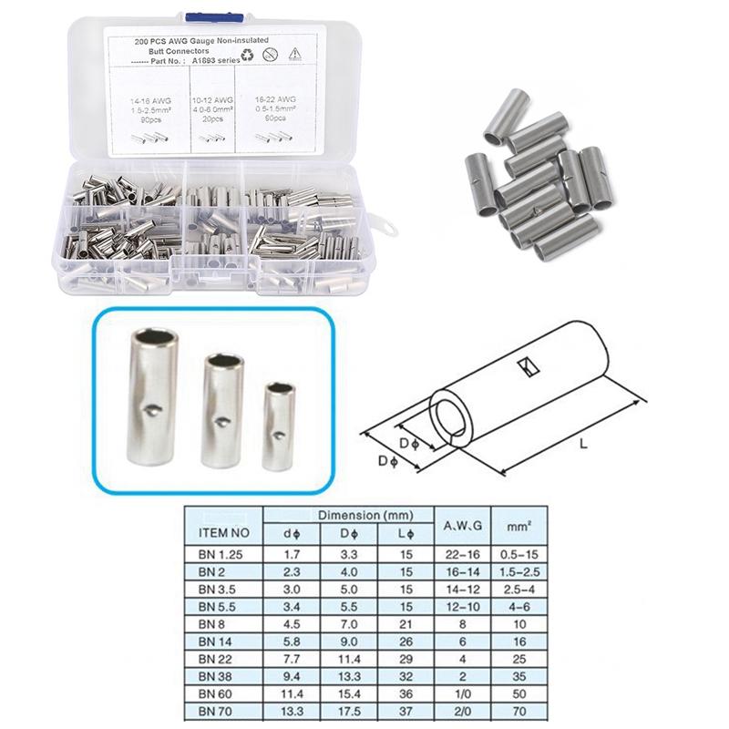 Stoßverbinder Quetschverbinder Kabelverbinder 10-12//14-16//18-22 AWG