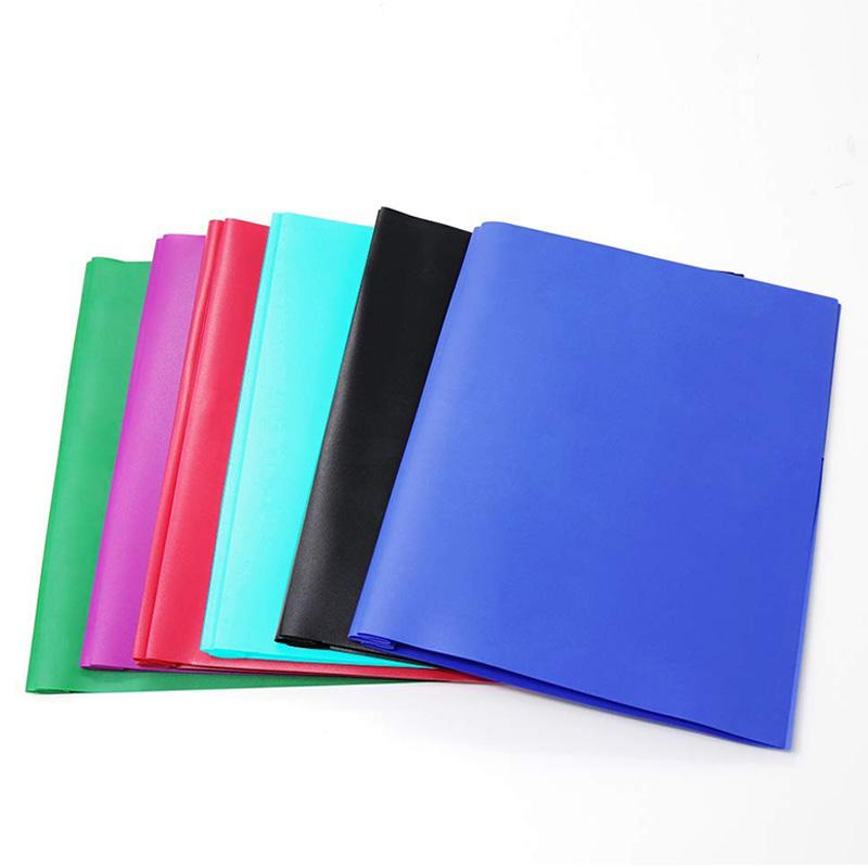 2-Pocket Letter Size-Folders Poly File Portfolio Folder