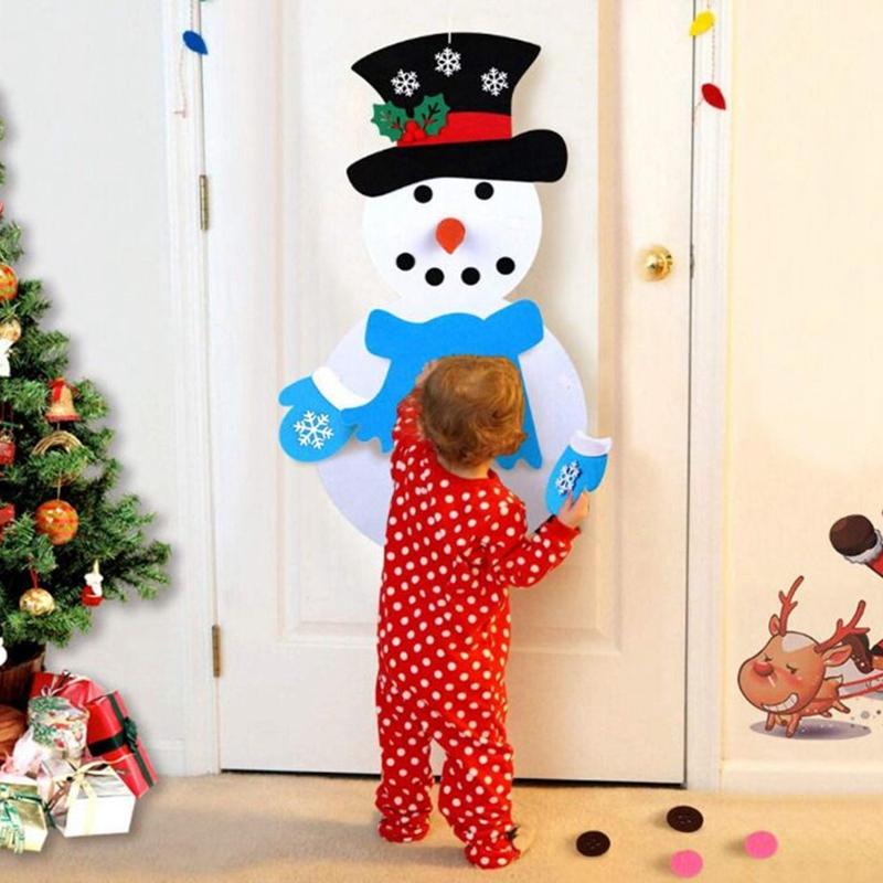 1X-Diy-Fieltro-aRbol-de-Navidad-MunEco-de-Nieve-con-Adornos-Juguetes-para-N-C8D1 miniatura 3