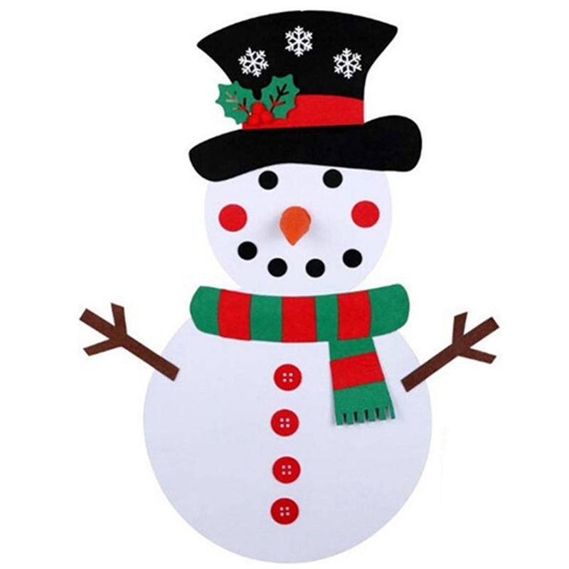 1X-Diy-Fieltro-aRbol-de-Navidad-MunEco-de-Nieve-con-Adornos-Juguetes-para-N-C8D1 miniatura 4