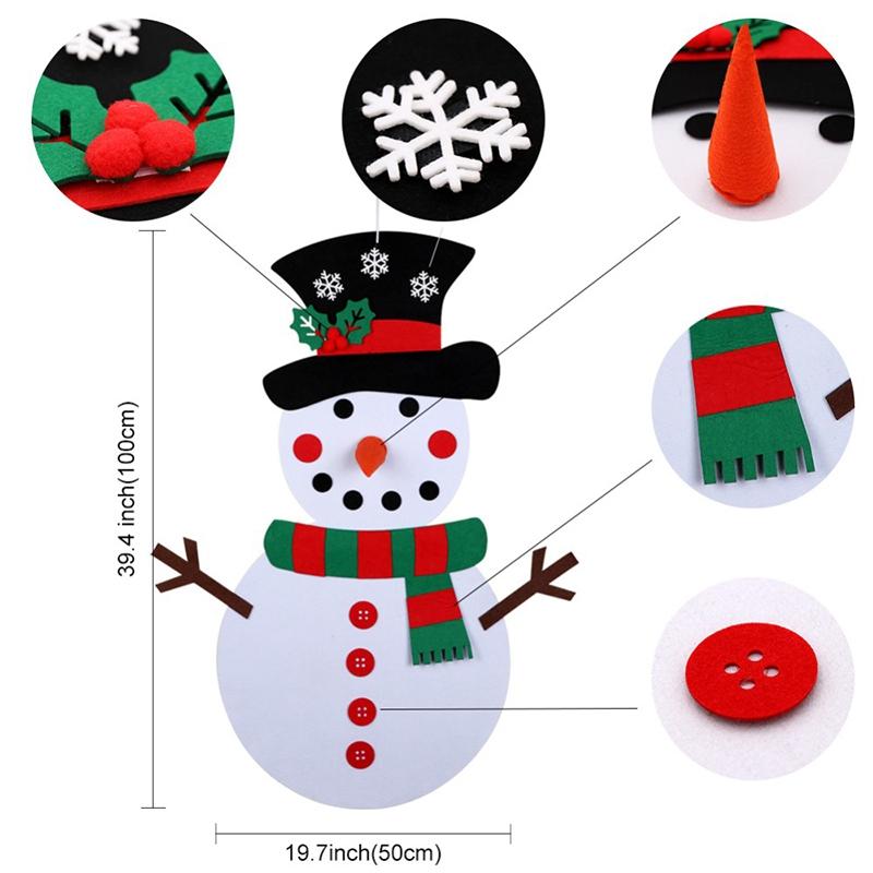 1X-Diy-Fieltro-aRbol-de-Navidad-MunEco-de-Nieve-con-Adornos-Juguetes-para-N-C8D1 miniatura 5